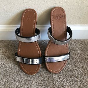 NY&Co mirrored slide sandals